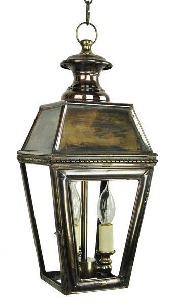 Kensington Victorian Solid Brass 3 Light Hanging Outdoor Porch Lantern Univ