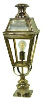 Kensington Solid Brass Victorian Short Outdoor Pillar Lantern