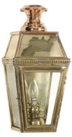 Kensington Solid Brass Victorian Outdoor Wall Passage Lamp