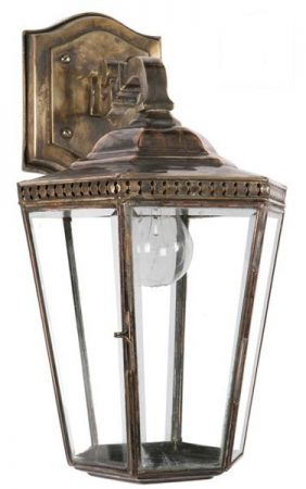 Chelsea Georgian Period Outdoor Wall Lantern Brass And Copper