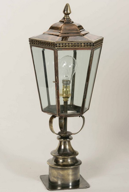 Chelsea Period Outdoor Short Post Lantern Brass And Copper 433SP