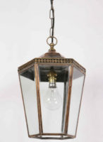 Chelsea Period Hanging Outdoor Porch Lantern Brass And Copper