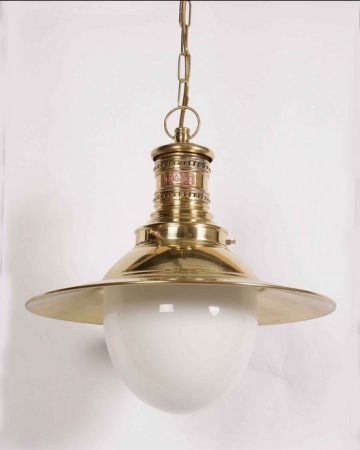 Victoria Solid Brass Period Hanging Outdoor Porch Lamp