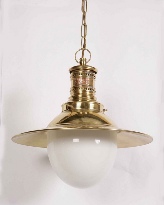 Victoria Solid Brass Period Hanging Outdoor Porch Lamp 437