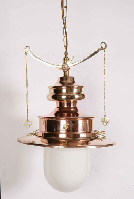 Paddington Solid Copper And Brass Period Station Gas Pendant Lamp