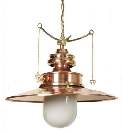 Paddington Large Solid Copper And Brass Station Gas Pendant Lamp