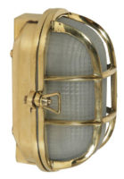 Oval Polished Cast Brass Outdoor Ships Bulkhead Wall Light