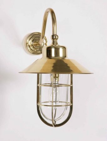 Wheelhouse Solid Brass Period Outdoor Wall Lantern
