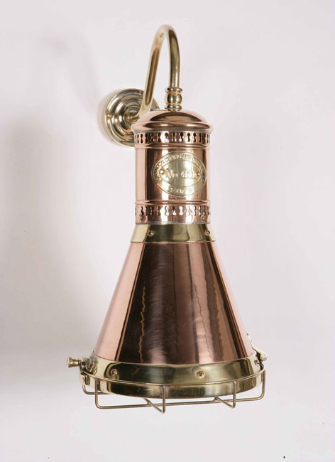Copper And Brass Replica Period Freighter Wall Light 451