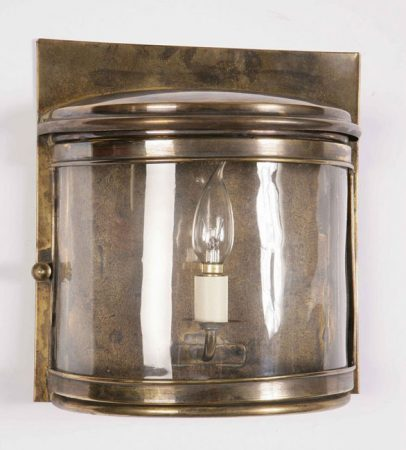 Period Outside Wall Lights : Deco Solid Brass Period Outdoor Wall Light 461