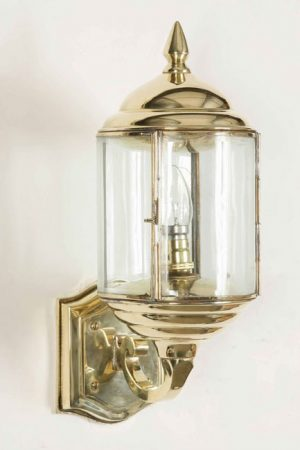 Wentworth Art Deco Style Solid Brass Outdoor Wall Lantern