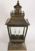 Chateau Large Victorian Solid Brass Outdoor Gate Pillar Lantern
