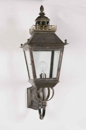 Chateau Replica Victorian Period Outdoor Wall Light Solid Brass