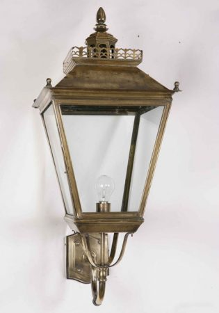 Large Victorian Period Chateau Outdoor Wall Light Solid Brass