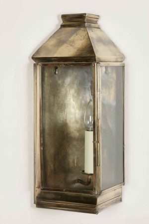 Medium Greenwich Period Outdoor Wall Lantern Solid Brass