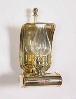 Victorian Replica Station Masters Period Oil Wall Lamp Brass