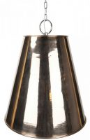 Large Java Copper Pendant Lantern With Brass Detail