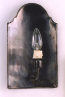 Aged Solid Brass Gothic Period Vestry Lamp Wall Light