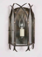 Small Solid Brass Swallow Tail Gothic Wall Lantern Handmade In Britain