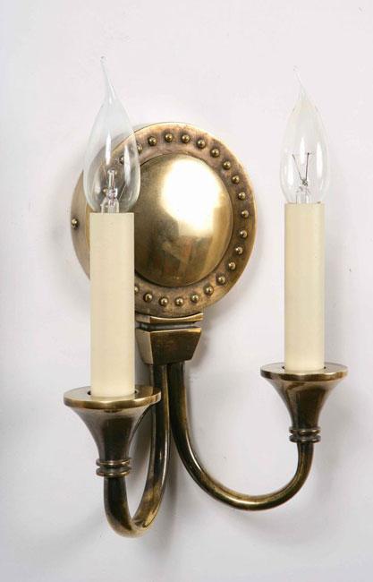 Handmade Brass Wall Lights : Handmade Opera Solid Brass Relica Period Twin Wall Light 823