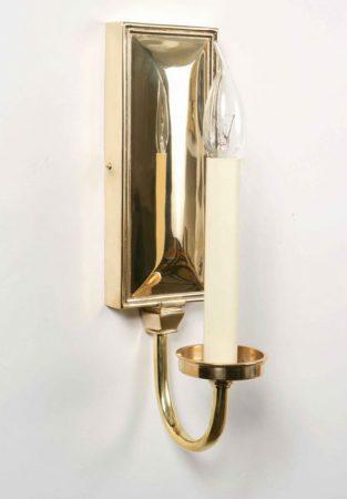 Period Replica Georgian Single Wall Light Solid Brass