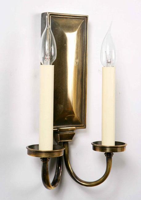 Period Replica Georgian Twin Wall Light Solid Brass