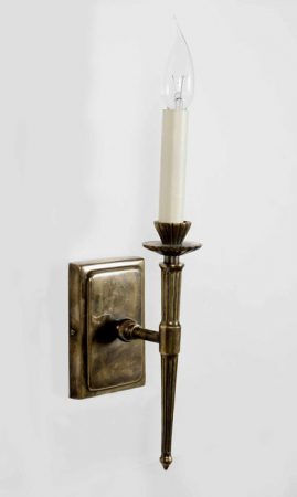 Hampton Edwardian Replica Wall Light Solid Brass