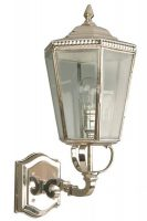 Chelsea Georgian Period Outdoor Upward Wall Lantern Nickel