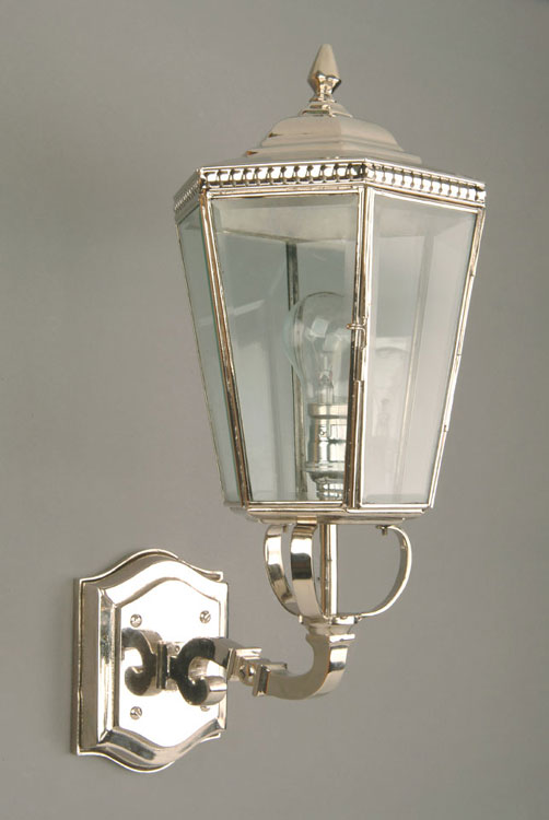 Period Outside Wall Lights : Chelsea Period Outdoor Upward Wall Lantern Nickel N433