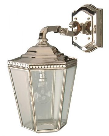 Chelsea Georgian Period Outdoor Downward Wall Lamp Nickel