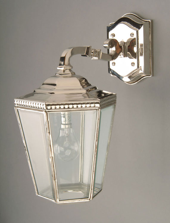 Period Outside Wall Lights : Chelsea Period Outdoor Downward Wall Lamp Nickel N433O