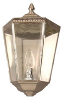 Chelsea Georgian Vintage Outdoor Wall Half Lantern Nickel
