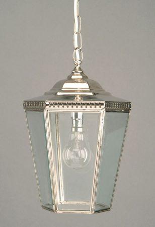 Chelsea Georgian Period Hanging Outdoor Porch Lantern Nickel
