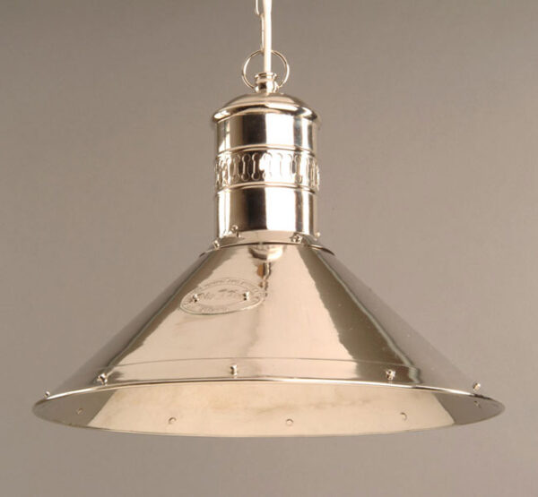 Polished Nickel Solid Brass Deck Lamp Pendant Light