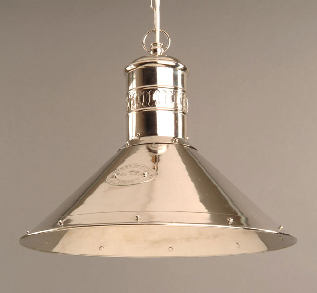 polished nickel solid brass deck lamp pendant light n449
