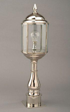 Wentworth Nickel Art Deco Style Outdoor Pillar Lamp