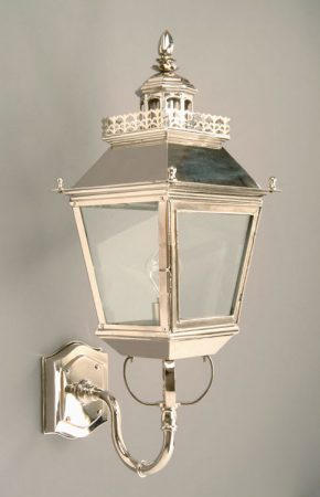 Chateau Polished Nickel Replica Victorian Outdoor Wall Light