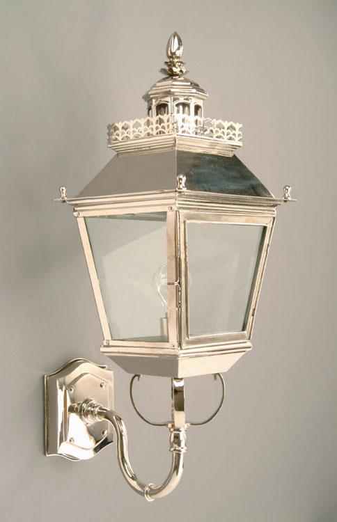 Period Outside Wall Lights : Chateau Polished Nickel Replica Victorian Outdoor Wall Light N502