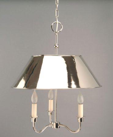 Broughton Handmade 3 Light Nickel Replica Period Pendant