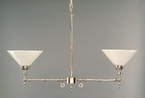 Aldwich Nickel Plated Gasolier 2 Light Pendant