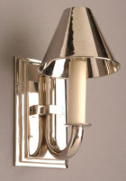 Eton Nickel Plated Solid Brass Replica Period Wall Light