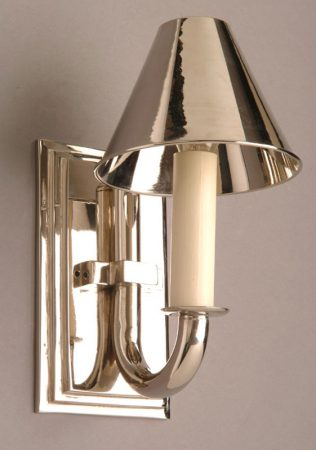 Eton Nickel Plated Solid Brass Replica Period Wall Light
