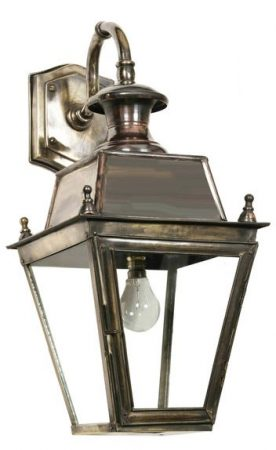 Balmoral Brass Replica Victorian Downward Outdoor Wall Lantern