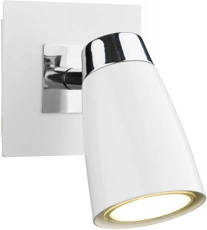 Dar Loft White Switched Single Low Energy Wall Spotlight