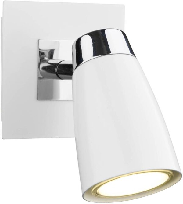 Dar Loft White Switched Single Low Energy Wall Spotlight
