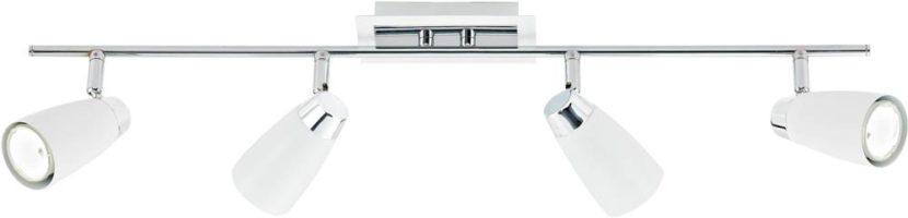 Dar Loft White 4 Light Low Energy Ceiling Spotlight Bar