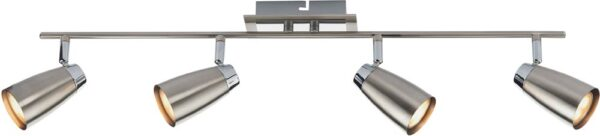 Dar Loft Chrome 4 Light Low Energy Ceiling Spotlight Bar