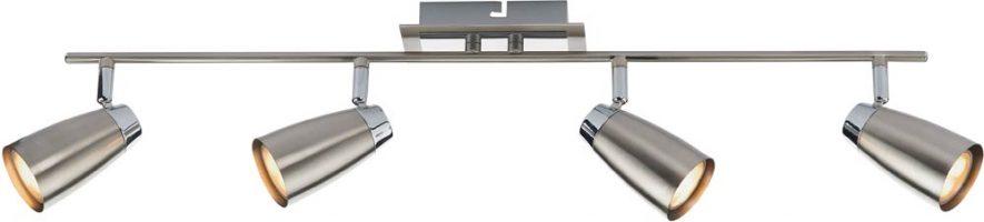 Dar Loft Chrome 4 Light Low Energy Ceiling Spotlight Bar