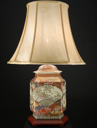 Oriental Hexagonal Ceramic Table Lamp