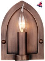 David Hunt Lindisfarne Medieval Copper Shield Wall Light